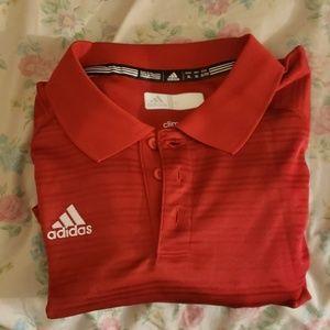Adidas red polo